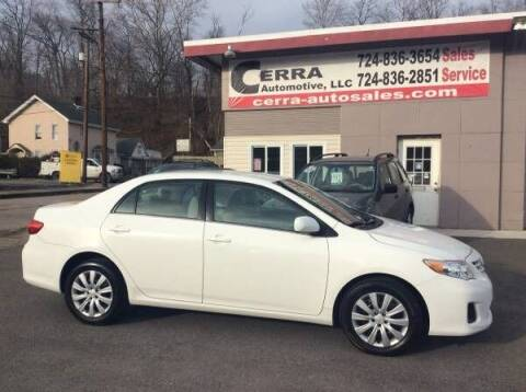 2013 Toyota Corolla for sale at Cerra Automotive LLC in Greensburg PA