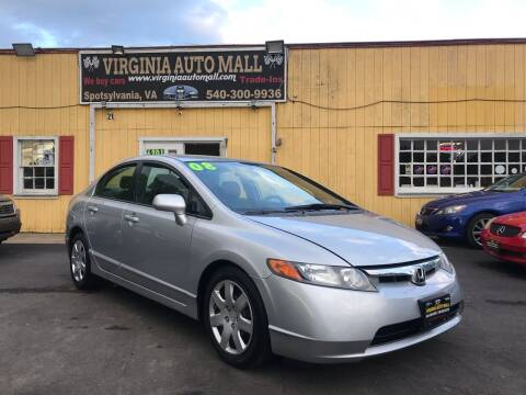 2008 Honda Civic for sale at Virginia Auto Mall in Woodford VA