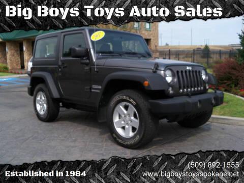 2017 Jeep Wrangler for sale at Big Boys Toys Auto Sales in Spokane Valley WA