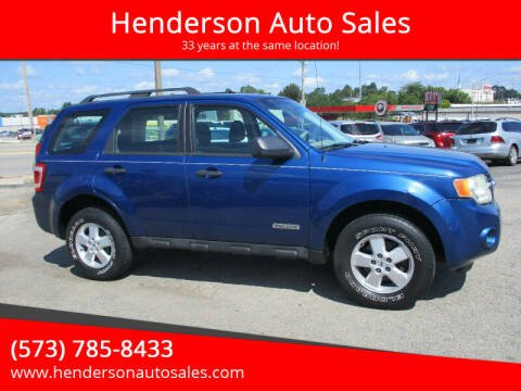 2008 Ford Escape for sale at Henderson Auto Sales in Poplar Bluff MO