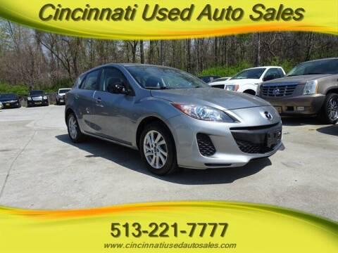 2013 Mazda MAZDA3 for sale at Cincinnati Used Auto Sales in Cincinnati OH