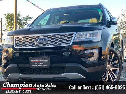 2016 Ford Explorer for sale at CHAMPION AUTO SALES OF JERSEY CITY in Jersey City NJ