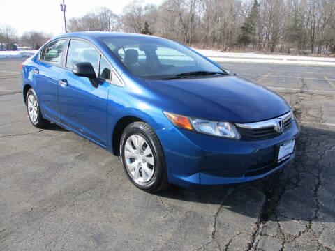 2012 Honda Civic for sale at Triangle Auto Sales in Elgin IL