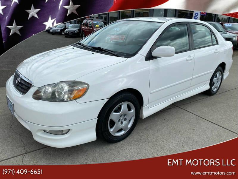 2007 Toyota Corolla for sale at EMT MOTORS LLC in Portland OR
