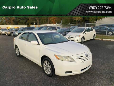 2007 Toyota Camry for sale at Carpro Auto Sales in Chesapeake VA