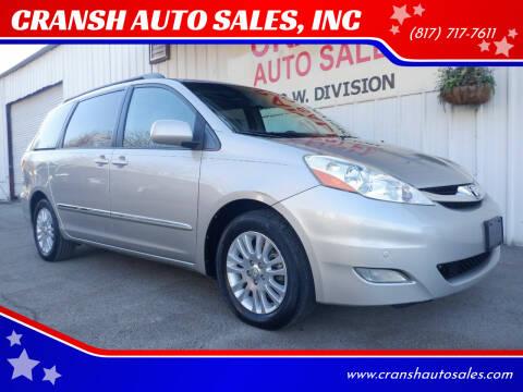 2009 Toyota Sienna for sale at CRANSH AUTO SALES, INC in Arlington TX