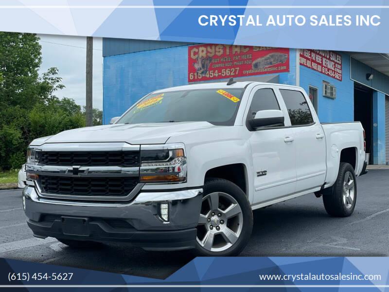 2016 Chevrolet Silverado 1500 for sale at Crystal Auto Sales Inc in Nashville TN