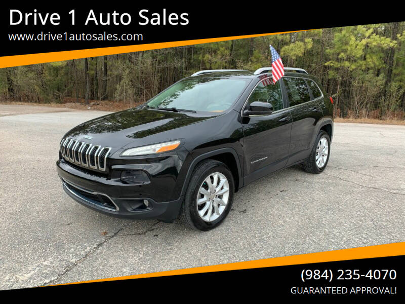 2016 Jeep Cherokee for sale at Drive 1 Auto Sales in Wake Forest NC