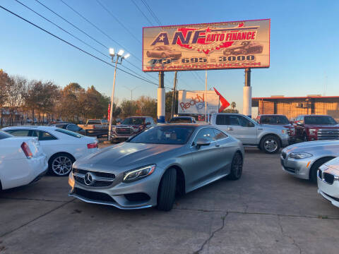 2016 Mercedes-Benz S-Class for sale at ANF AUTO FINANCE in Houston TX