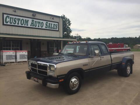 1992 Dodge RAM 350 for sale at Custom Auto Sales - AUTOS in Longview TX