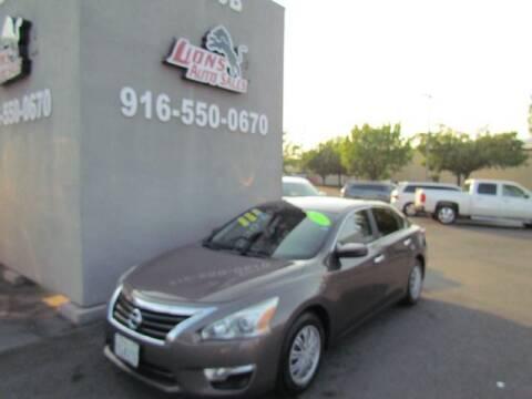 2015 Nissan Altima for sale at LIONS AUTO SALES in Sacramento CA