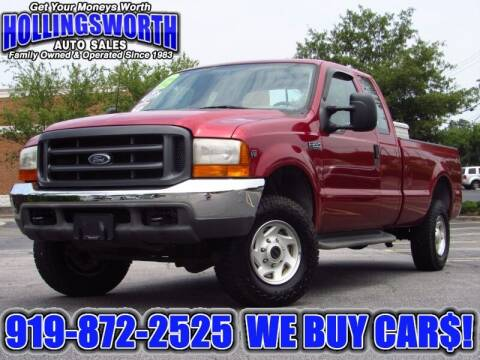 2001 Ford F-250 Super Duty for sale at Hollingsworth Auto Sales in Raleigh NC