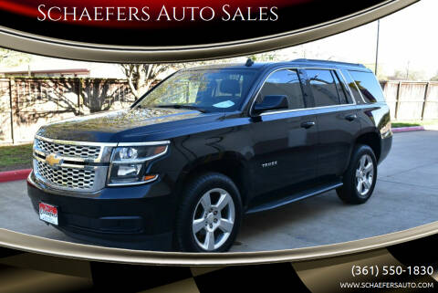 2015 Chevrolet Tahoe for sale at Schaefers Auto Sales in Victoria TX