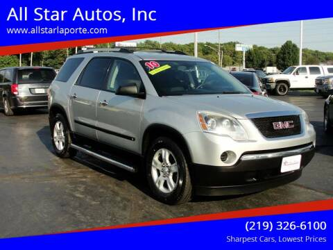 2010 GMC Acadia for sale at All Star Autos, Inc in La Porte IN