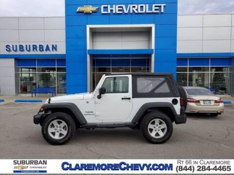 2017 Jeep Wrangler for sale at Suburban Chevrolet in Claremore OK