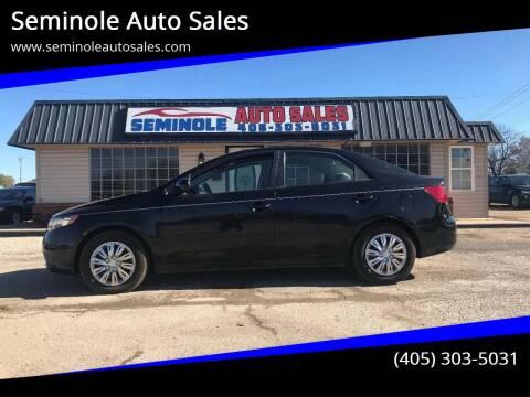 2013 Kia Forte for sale at Seminole Auto Sales in Seminole OK