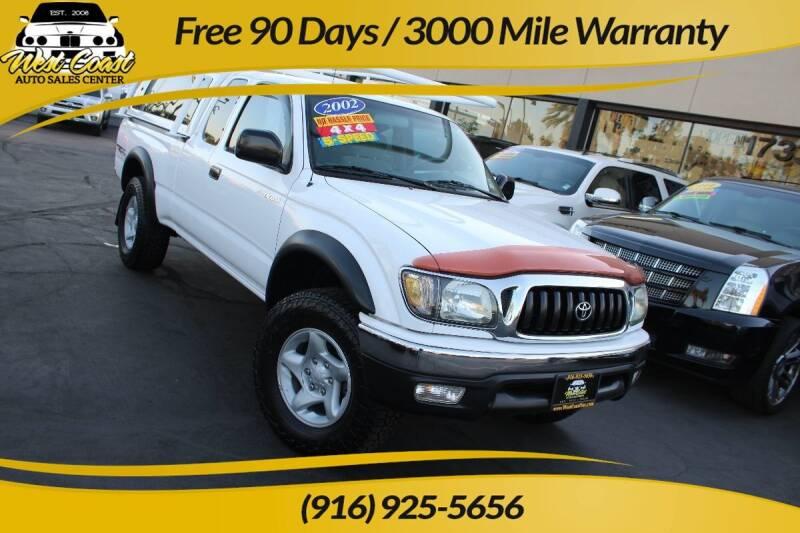 2002 Toyota Tacoma for sale at West Coast Auto Sales Center in Sacramento CA
