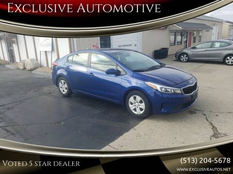 2017 Kia Forte for sale at Exclusive Automotive in West Chester OH