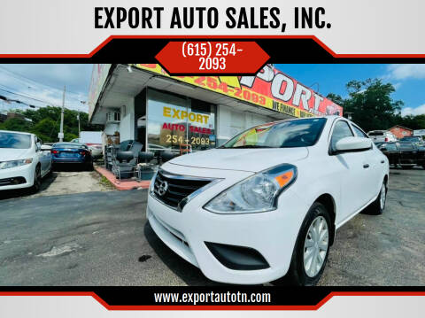 2016 Nissan Versa for sale at EXPORT AUTO SALES, INC. in Nashville TN