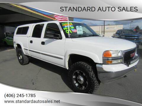 2001 GMC Sierra 1500HD for sale at Standard Auto Sales in Billings MT