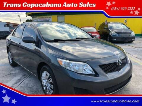 2010 Toyota Corolla for sale at Trans Copacabana Auto Sales in Hollywood FL