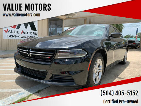 2015 Dodge Charger for sale at VALUE MOTORS in Kenner LA