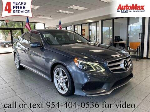 2014 Mercedes-Benz E-Class for sale at Auto Max in Hollywood FL