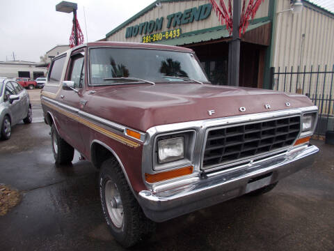 1979 Ford Bronco for sale at MOTION TREND AUTO SALES in Tomball TX