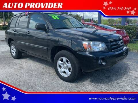 2005 Toyota Highlander for sale at AUTO PROVIDER in Fort Lauderdale FL