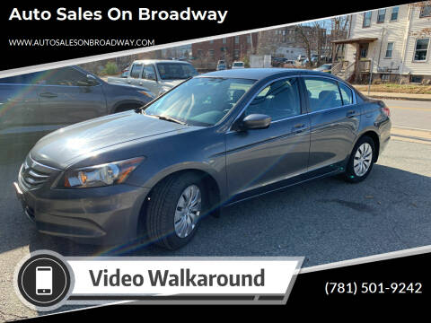 2012 Honda Accord for sale at Auto Sales on Broadway in Norwood MA