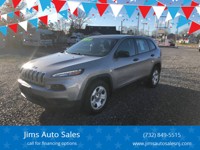 2015 Jeep Cherokee for sale at Jims Auto Sales in Lakehurst NJ