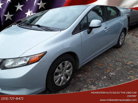 "2012 Honda Civic for sale at MIDWESTERN AUTO SALES        ""The Used Car Center"" in Middletown OH"
