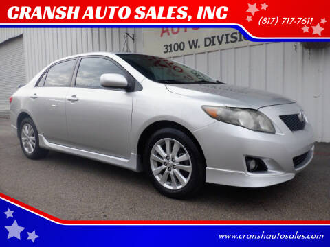 2010 Toyota Corolla for sale at CRANSH AUTO SALES, INC in Arlington TX