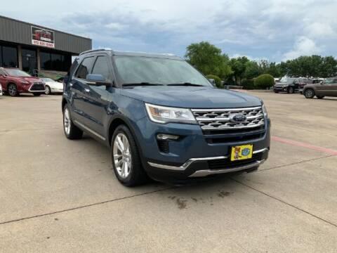 2018 Ford Explorer for sale at KIAN MOTORS INC in Plano TX