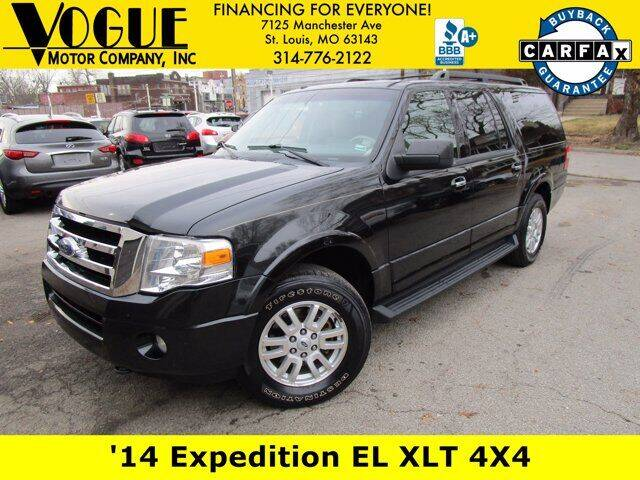 2014 Ford Expedition EL for sale at Vogue Motor Company Inc in Saint Louis MO