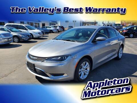 2015 Chrysler 200 for sale at Appleton Motorcars Sales & Service in Appleton WI