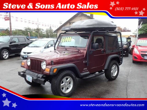 2003 Jeep Wrangler for sale at Steve & Sons Auto Sales in Happy Valley OR