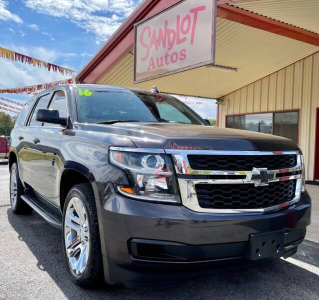2016 Chevrolet Tahoe for sale at Sandlot Autos in Tyler TX