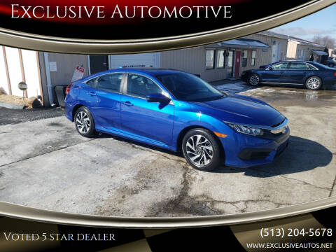 2017 Honda Civic for sale at Exclusive Automotive in West Chester OH