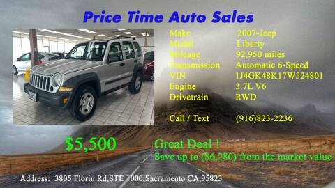 2007 Jeep Liberty for sale at PRICE TIME AUTO SALES in Sacramento CA
