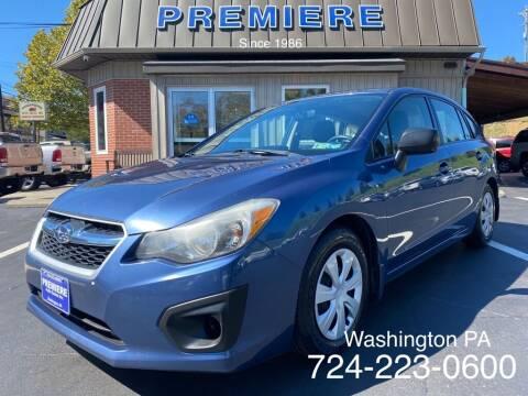 2013 Subaru Impreza for sale at Premiere Auto Sales in Washington PA