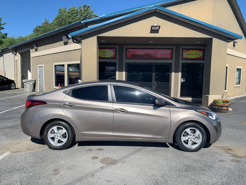 2015 Hyundai Elantra for sale at Advantage Auto Sales in Garden City ID