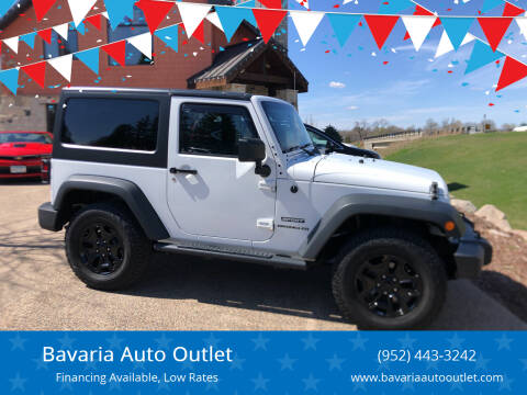 2014 Jeep Wrangler for sale at Bavaria Auto Outlet in Victoria MN