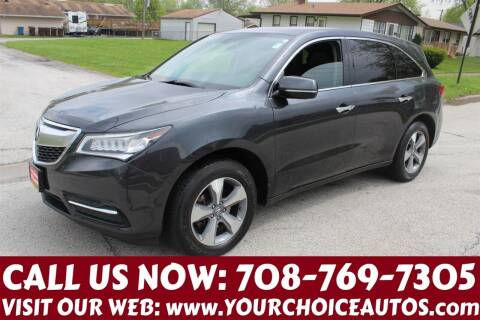 2014 Acura MDX for sale at Your Choice Autos in Posen IL