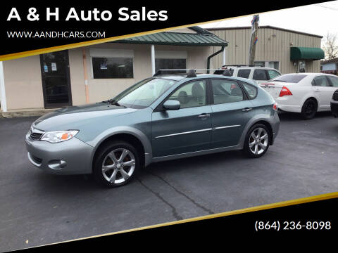 2009 Subaru Impreza for sale at A & H Auto Sales in Greenville SC