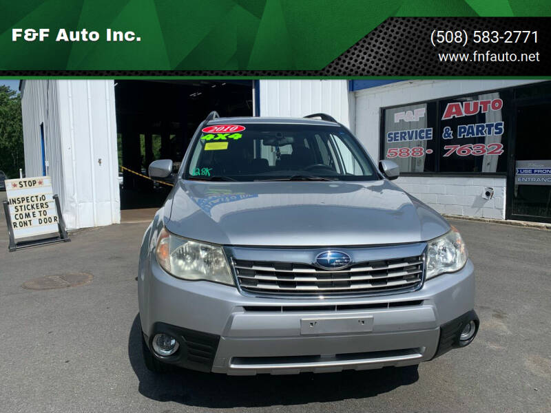2010 Subaru Forester for sale at F&F Auto Inc. in West Bridgewater MA