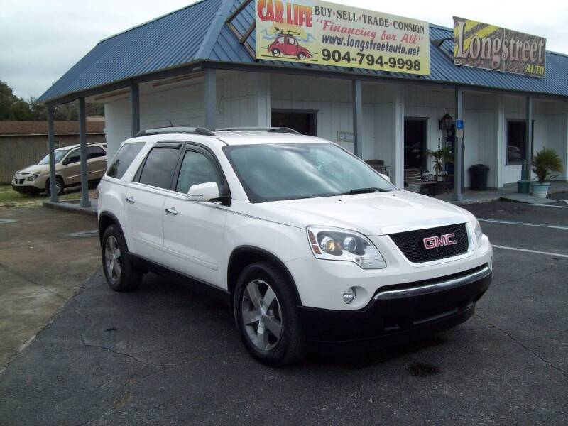 2011 GMC Acadia for sale at LONGSTREET AUTO in St Augustine FL