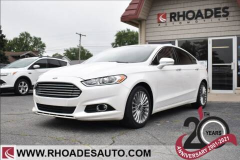 2016 Ford Fusion for sale at Rhoades Automotive in Columbia City IN