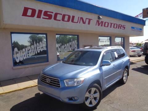 2008 Toyota Highlander for sale at Discount Motors in Pueblo CO