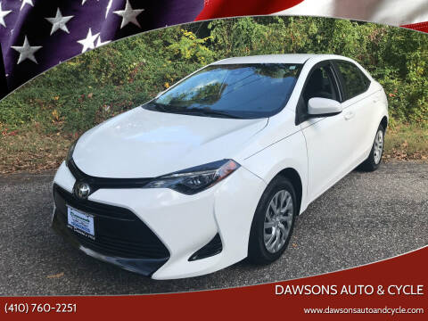 2017 Toyota Corolla for sale at Dawsons Auto & Cycle in Glen Burnie MD